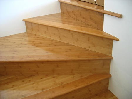 Sustainable bamboo flooring stairs