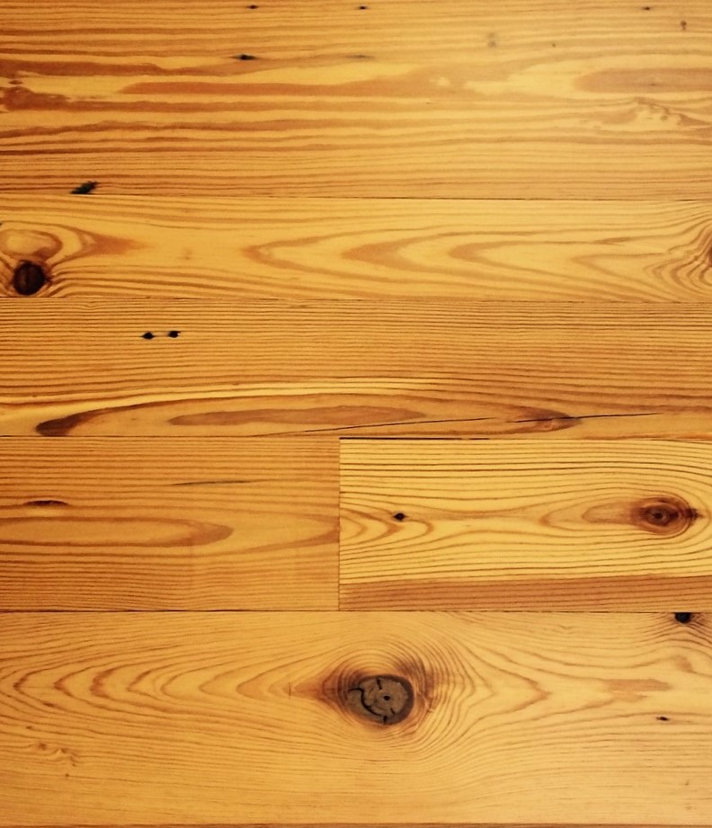 Heart pine flooring sample