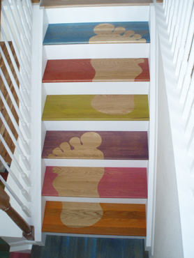 footprint custom stain