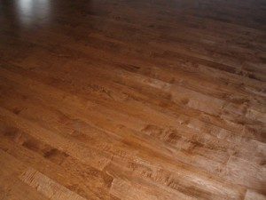 Don Usually Stain Maple Floors But Hardwood
