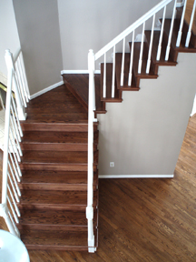 Walnut Stained stairs