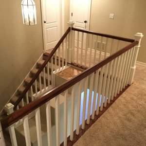 Hardwood flooring is what we do, but we also do hand rails