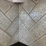 Backsplash herringbone corner detail